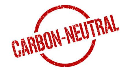 carbon-neutral red round stamp