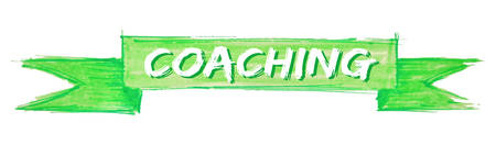 coaching hand painted ribbon sign