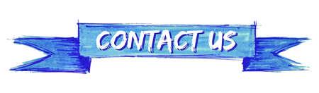 contact us hand painted ribbon sign