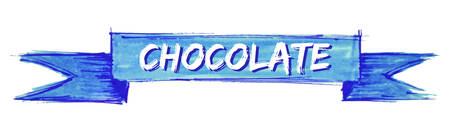 chocolate hand painted ribbon sign