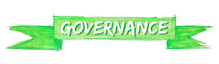governance hand painted ribbon sign
