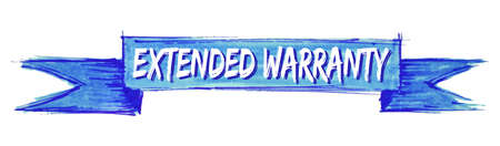 extended warranty hand painted ribbon sign