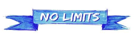 no limits hand painted ribbon sign