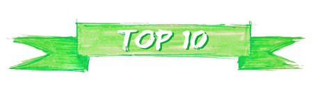 top 10 hand painted ribbon sign Illustration
