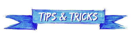 tips & tricks hand painted ribbon sign