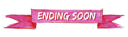 ending soon hand painted ribbon sign