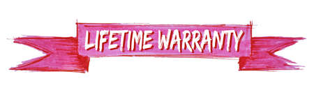 lifetime warranty hand painted ribbon sign