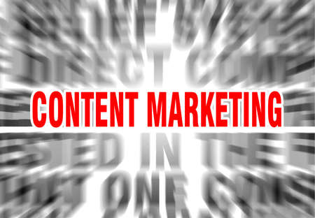 blurred text with focus on content marketing