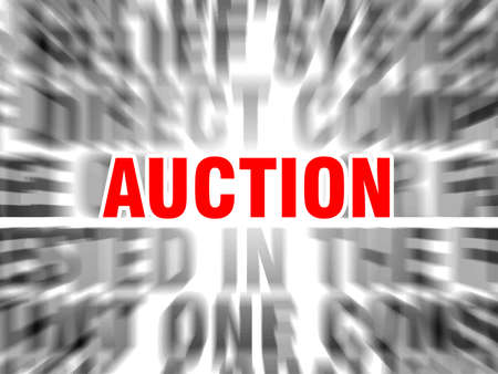 blurred text with focus on auction Stock fotó - 123016065