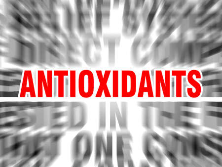blurred text with focus on antioxidants