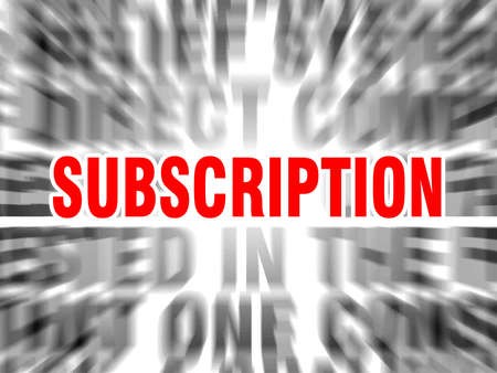 blurred text with focus on subscription Çizim