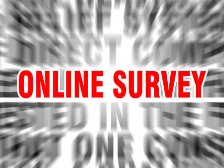 blurred text with focus on online survey Çizim