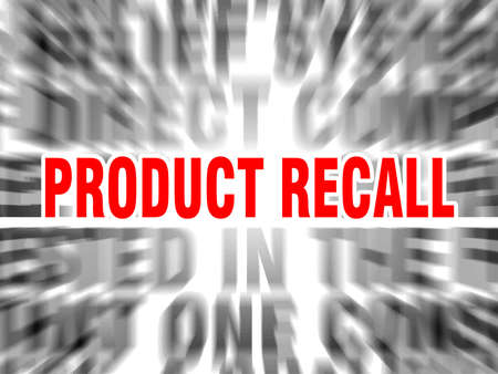 blurred text with focus on product recall