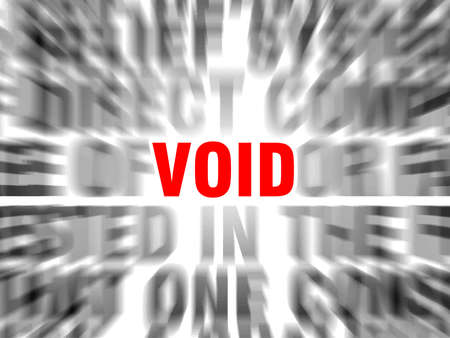 blurred text with focus on void
