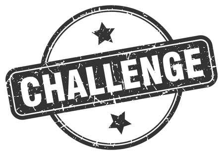 challenge round vintage grunge stamp