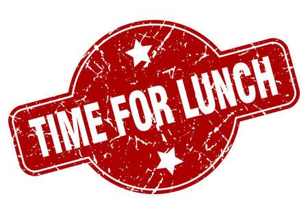 time for lunch vintage stamp. time for lunch sign Ilustração