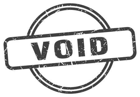 void vintage stamp. void sign