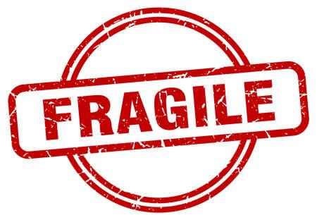 fragile round vintage grunge stamp