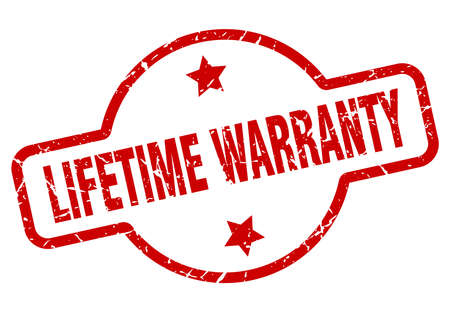 lifetime warranty stamp isolated on white