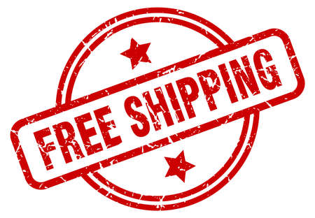 free shipping round grunge isolated stamp