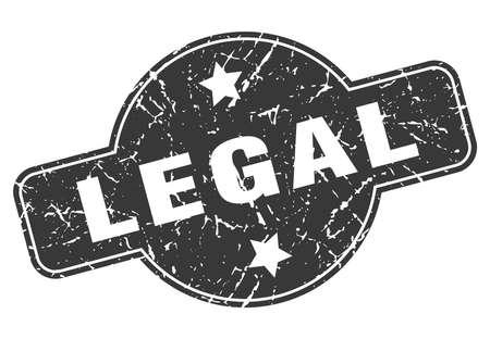 legal round grunge isolated stamp Ilustração