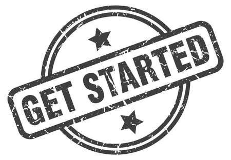 get started stamp isolated on white Vector Illustratie