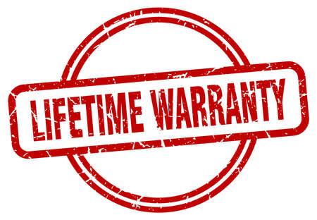 lifetime warranty round vintage grunge stamp