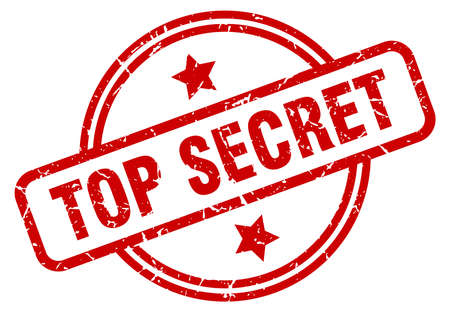 top secret round grunge isolated stamp