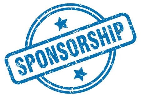 sponsorship round vintage grunge stamp Vecteurs