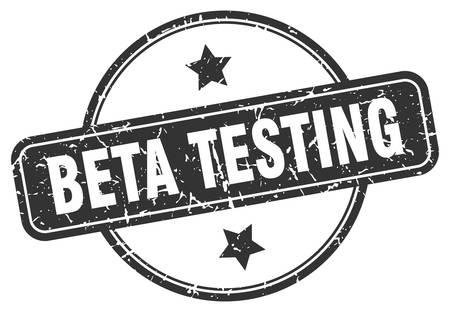 beta testing round vintage grunge stamp Vector Illustration