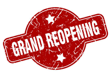 grand reopening vintage stamp. grand reopening sign