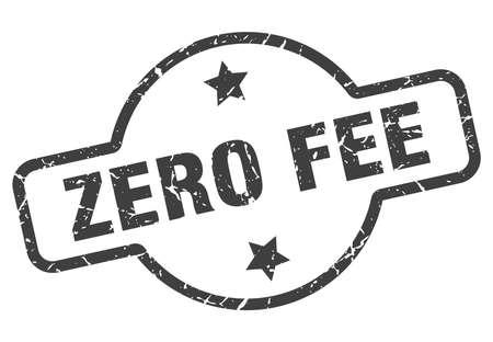 zero fee vintage round isolated stamp
