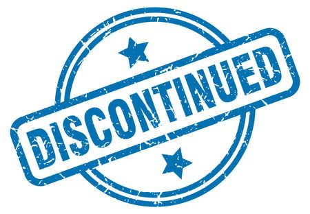 discontinued round vintage grunge stamp