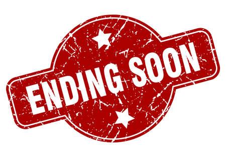 ending soon vintage stamp. ending soon sign