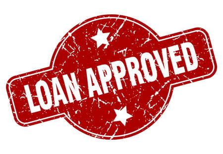loan approved vintage stamp. loan approved sign Ilustração