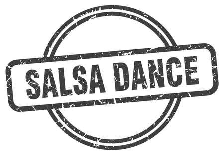 salsa dance vintage stamp. salsa dance sign Иллюстрация