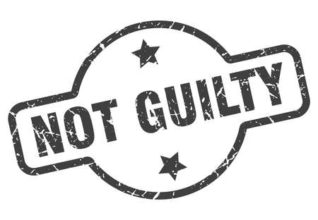 not guilty vintage round isolated stamp  イラスト・ベクター素材