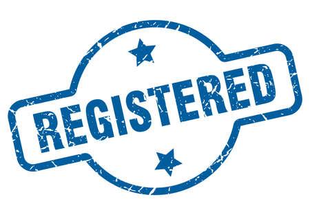 registered vintage stamp. registered sign