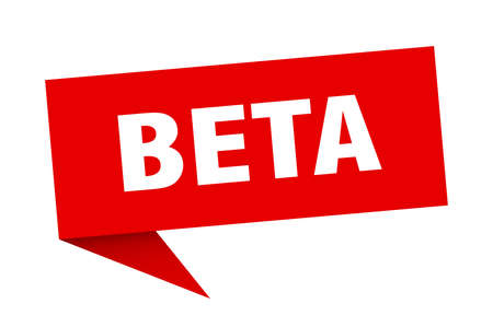 beta speech bubble. beta sign. beta banner