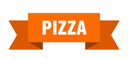 pizza ribbon. pizza isolated sign. pizza banner
