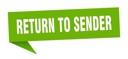 return to sender speech bubble. return to sender sign. return to sender banner Stockfoto - 124885398