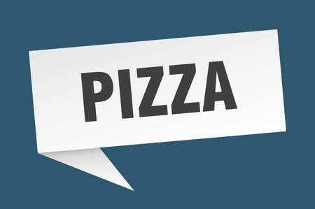 pizza speech bubble. pizza sign. pizza banner