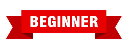 beginner ribbon. beginner isolated sign. beginner banner