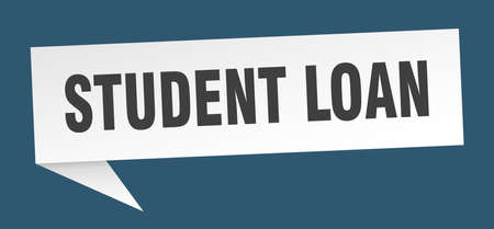 student loan speech bubble. student loan sign. student loan banner