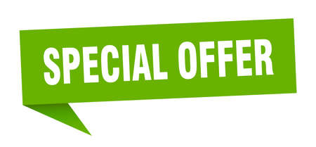 special offer speech bubble. special offer sign. special offer banner
