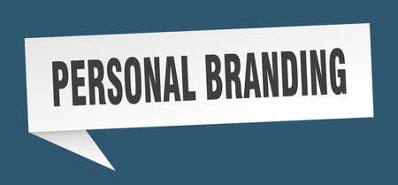 personal branding speech bubble. personal branding sign. personal branding banner Illustration