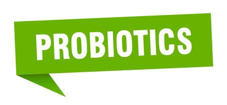 probiotics speech bubble. probiotics sign. probiotics banner