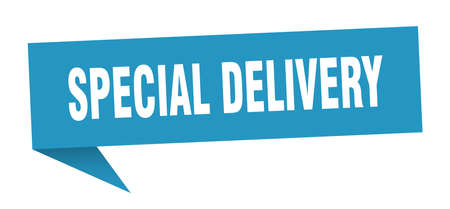 special delivery speech bubble. special delivery sign. special delivery banner