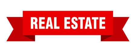 real estate ribbon. real estate isolated sign. real estate banner