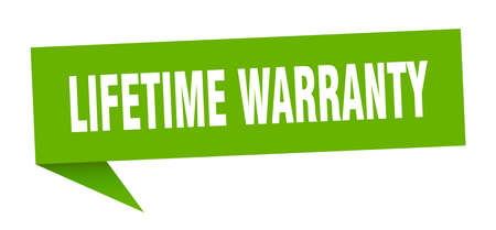 lifetime warranty speech bubble. lifetime warranty sign. lifetime warranty banner Ilustrace